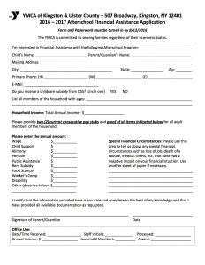 Financial Aid Form 2016.17